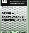 Materiały Szkoły Eksploatacji Podziemnej 1993 - Suplement